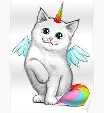 Ove Decor Cat Unicorn Posters Redbubble