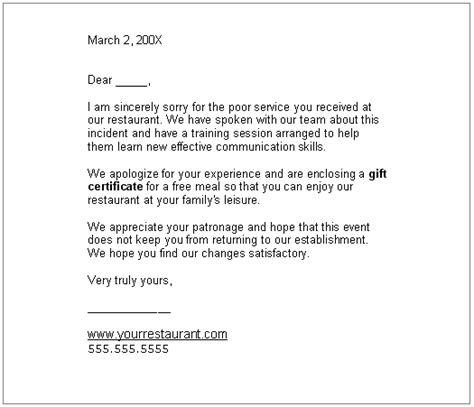 business apology letter with gift gift certificate template letter images certificate