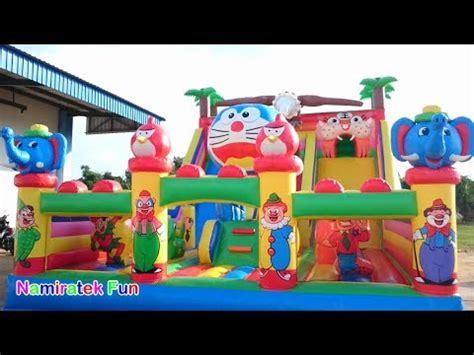 Tenda Lipat Anak Doraemon Rumah Bermain Bola Mainan Edukasi Tent Kemah mandi bola banyak sekali naik odong odong mobil maina doovi