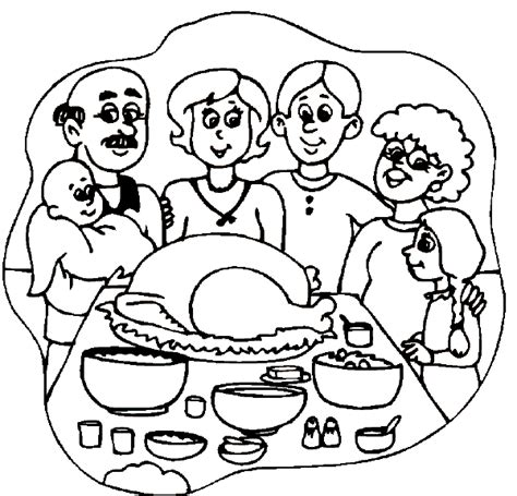 coloring page thanksgiving dinner thanksgiving coloring pages kids world