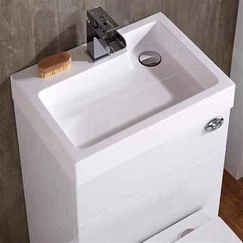 wasbak 50 x 50 toilet met ingebouwde wastafel 87cm x 50cm 85cm wit