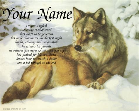 wolf names snow wolf