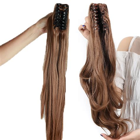 ponytail clip in remy human hair extensions ebay 100 remy hair clip in claw jaw ponytail extensions clip