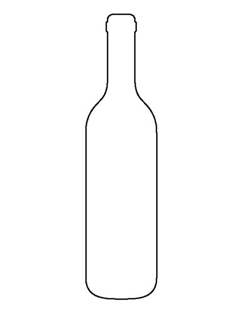 wine bottle pattern use the printable outline for crafts