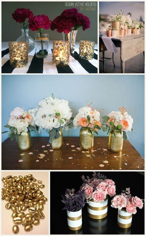 glamorous wedding on a small budget jars wedding and sprays