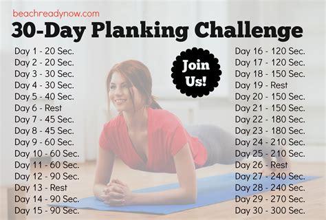 planking 30 day challenge 30 day planking challenge