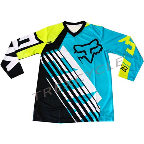 Jersey Sepeda Mtb Dh 4 jual jersey sepeda downhill dan cross fox cyan trexcycle indonesia