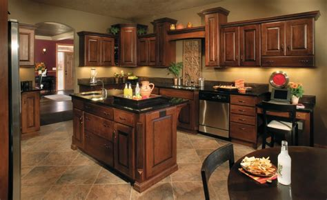 What Color To Paint Kitchen With Dark Cabinets | best paint color for kitchen with dark cabinets decor