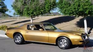 1974 Pontiac Firebird 1974 Pontiac Firebird Formula 400 Original Az Car Phs
