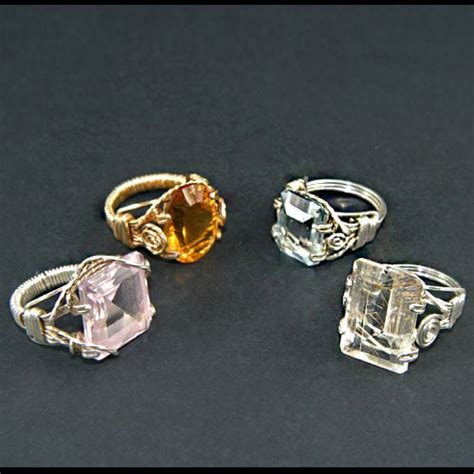 jewelry classes near me wire wrapped prong set rings made in class yelp
