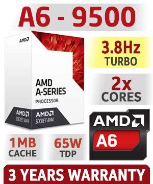 amd a6 9500 dual am4 apu with radeon r5 graphics