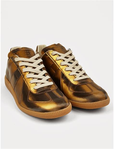 margiela sneakers gold going for the gold maison martin margiela 22 gold replica