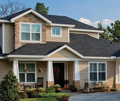 exterior grey georgia pacific vinyl siding color design ideas with tile roof and gable roof exterior glass window design ideas with georgia pacific