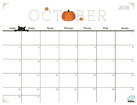 printable calendar october 2016 october 2016 calendar printable