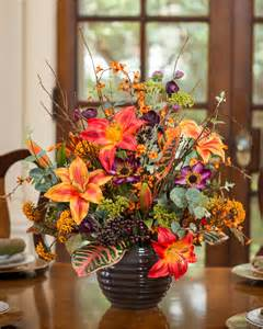 Hydrangea Arrangements Vases Vibrant Lily Croton Amp Berries Silk Flower Design At Petals