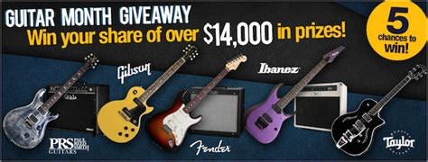 Sweetwater Sweepstakes - 14 000 dream guitar giveaway