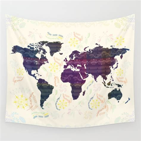 map tapestry world map tapestry bohemian wall tapestry wall hanging