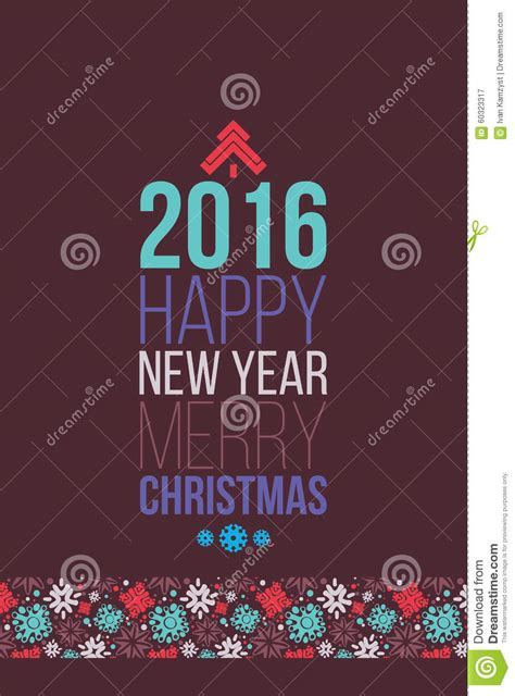 new year posters 2016 merry and happy new year 2016 poster stock