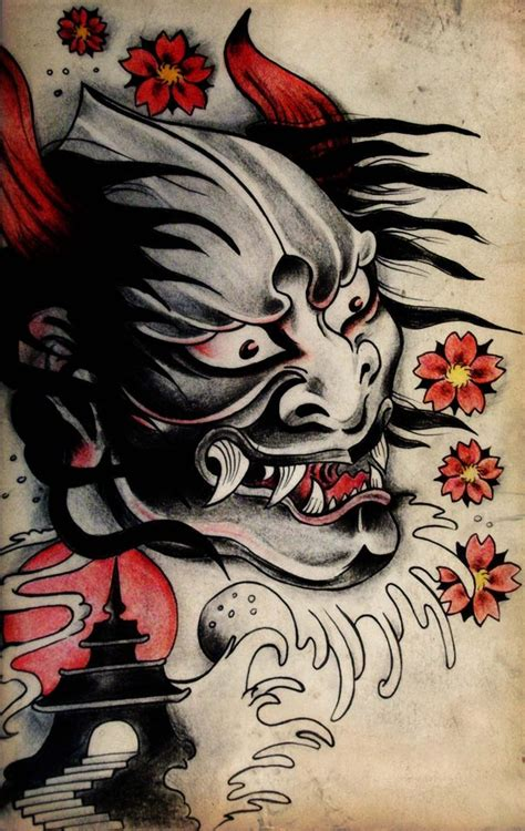 japanese demon tattoo design by blacksilence92 on deviantart