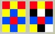 rood tegen blauw interieur dit is een kleur tegen kleurcontrast omdat er veel geel