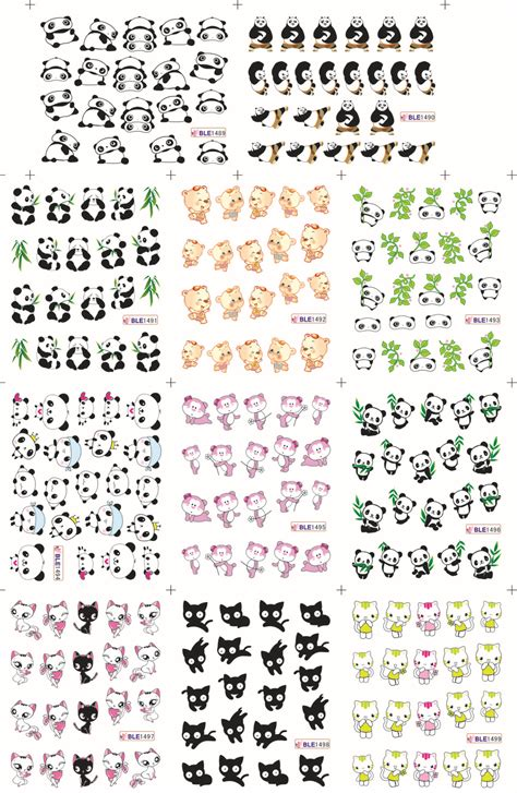 printable nail stickers paper china water transfer nail sticker 11 designs in 1 sheets