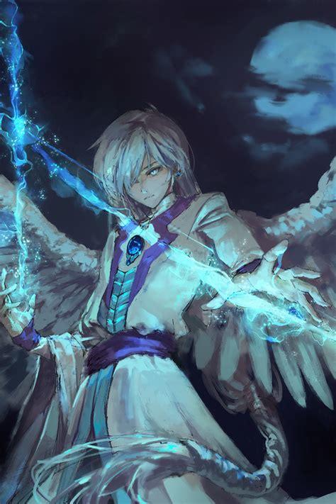 anime angel boy  magical arrow iphone