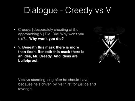 1984 Vs V For Vendetta Essays by V Vendetta Quotes Ideas Are Bulletproof Image Quotes At