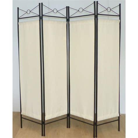 paravent de paravent m 233 diterran 233 en 180x163 cm blanc achat vente paravent structure acier toile 100