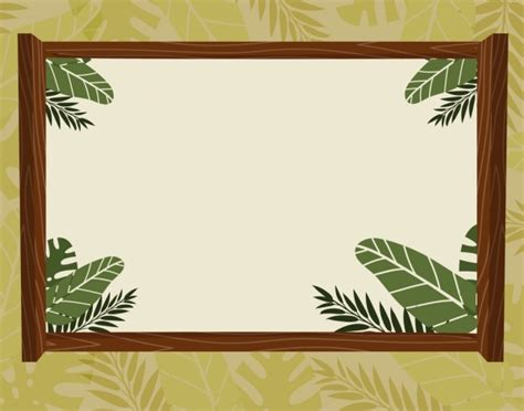 border templates for adobe illustrator border template natural leaves decoration free vector in