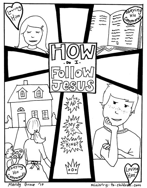 coloring page jesus of god free coloring pages of matthew follow jesus