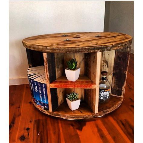 cable spool coffee table our cable reel bookshelf coffee tables recycle recycled