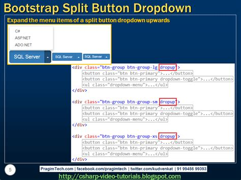 tutorial bootstrap dropdown sql server net and c video tutorial bootstrap split
