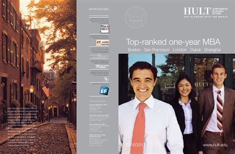 Hult One Year Mba by Hult Mba Brochure 2010