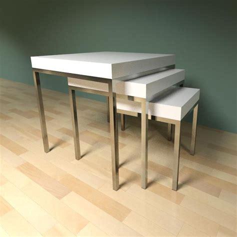 Living Room Table Revit Ikea Klubbo Nested Tables 3d Model Formfonts 3d Models