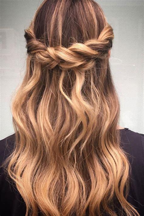 twisty braid crown braid tutorials half up half down
