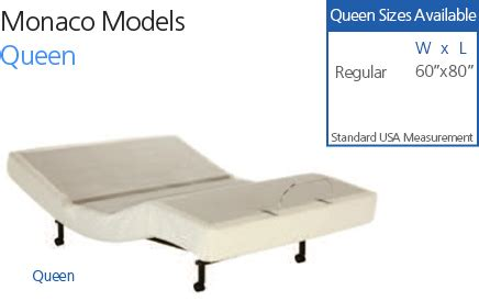 monaco adjustable bed craftmatic 174 adjustable beds