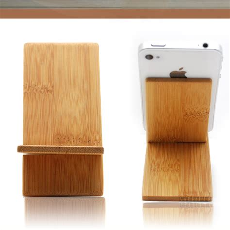 Wooden Smartphone Holder 1 bamboo for iphone holder wooden mobile stand cell phone