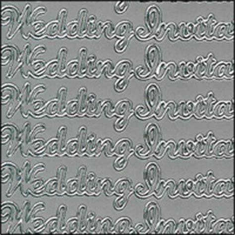 wedding invitation peel stickers wedding invitation silver peel stickers s on wedding