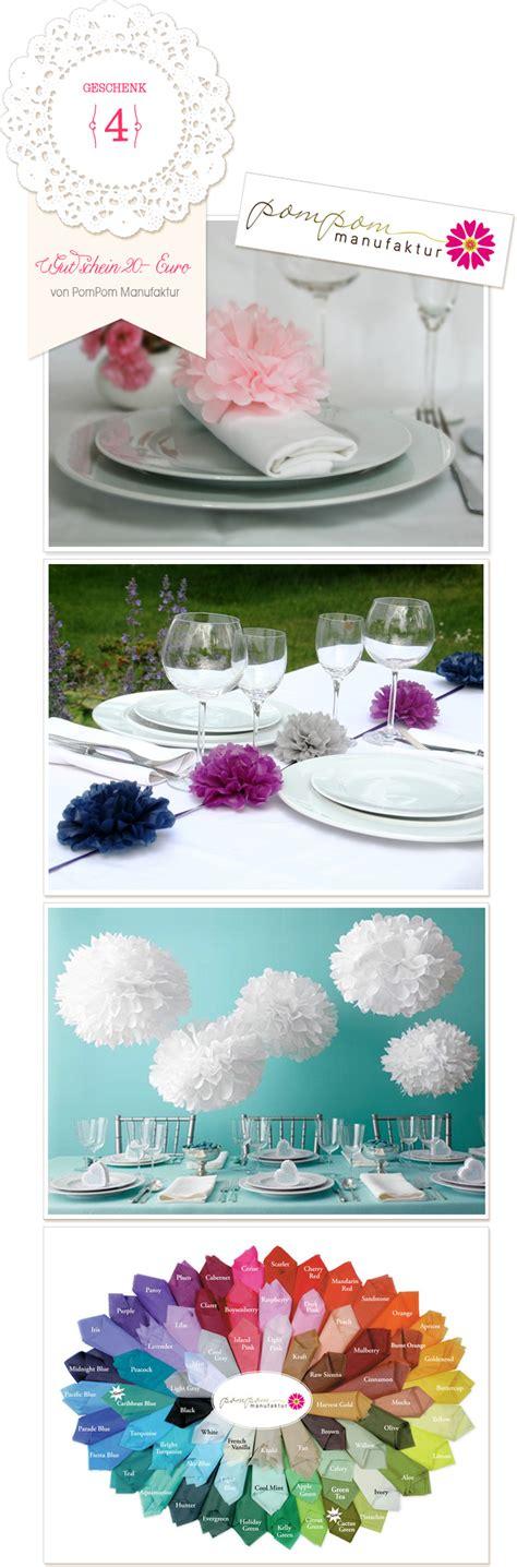 Pom Pom Manufaktur by Hochzeitsblog Styleh 228 Ppchen Ch Lass Dich Zum Feiern