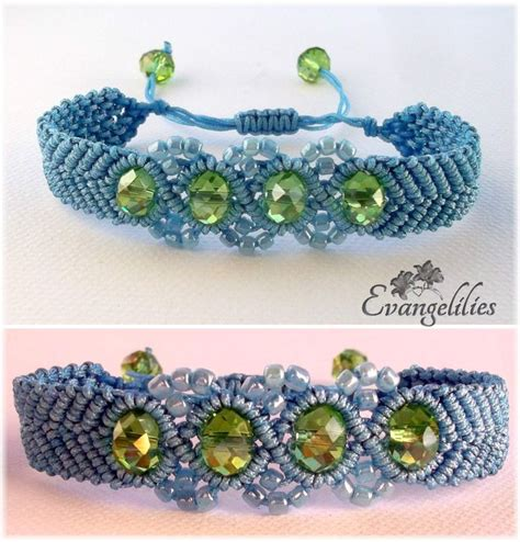 Macrame School - wavy chevron beaded macrame bracelet what a delight to
