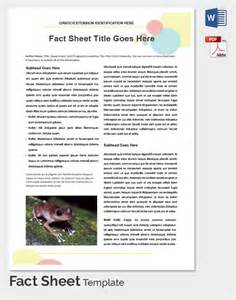 fact sheet template word fact sheet template cyberuse