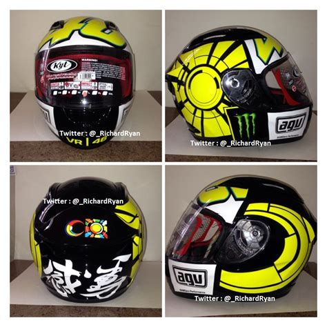 Helm Ink Lorenzo baru jual helm kyt rc7 custom motif winter test