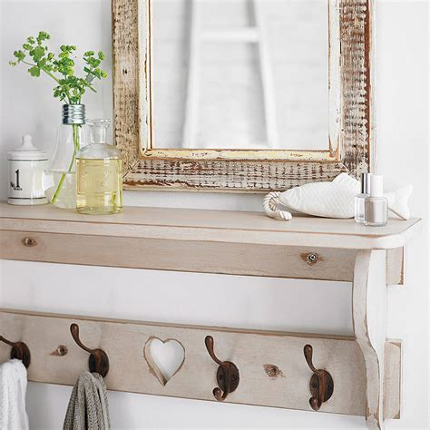 woods vintage home interiors wooden hook shelf by woods vintage home interiors notonthehighstreet