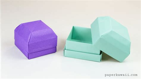 How To Make A Paper Ring Box - origami gem gift box tutorial great as a ring box
