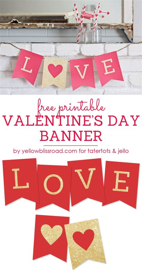 printable i love you banner free printable valentine s day banner tatertots and jello