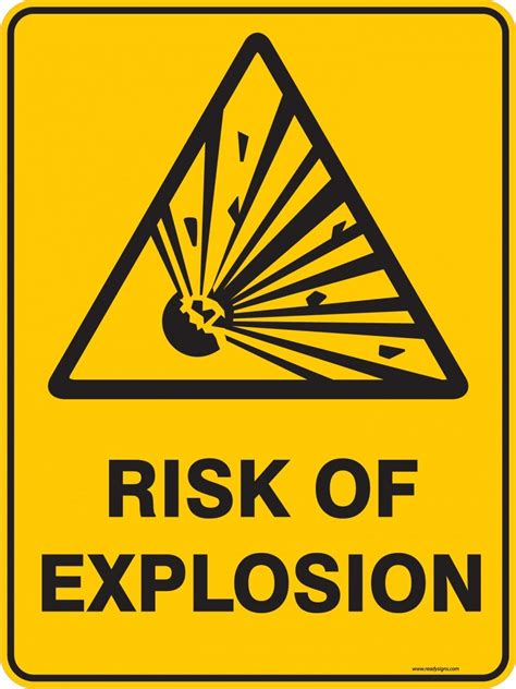 warning signs warning sign risk of explosion ready signs