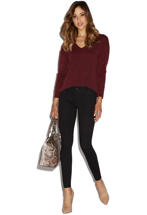 Button Sleeve Pullover button sleeve v neck pullover shoedazzle