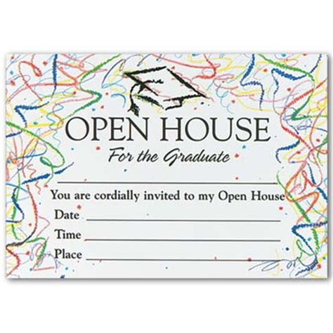 templates for graduation open house invitations confetti graduation open house invitations myexpression 561