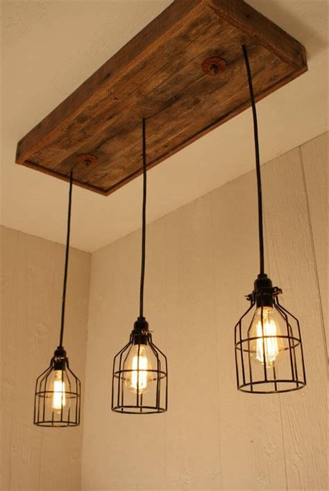 Handmade Light Fixtures - diy pallet bulbs chandelier pallet furniture diy