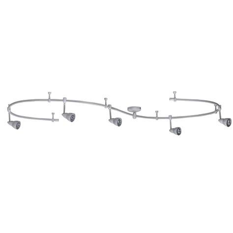 flexible track lighting kits 5light brushed steel linevoltage flexible track light kit